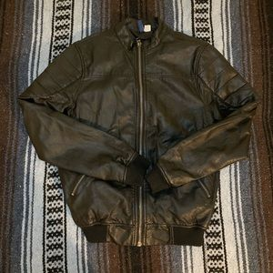 H&M Divided black faux leather jacket